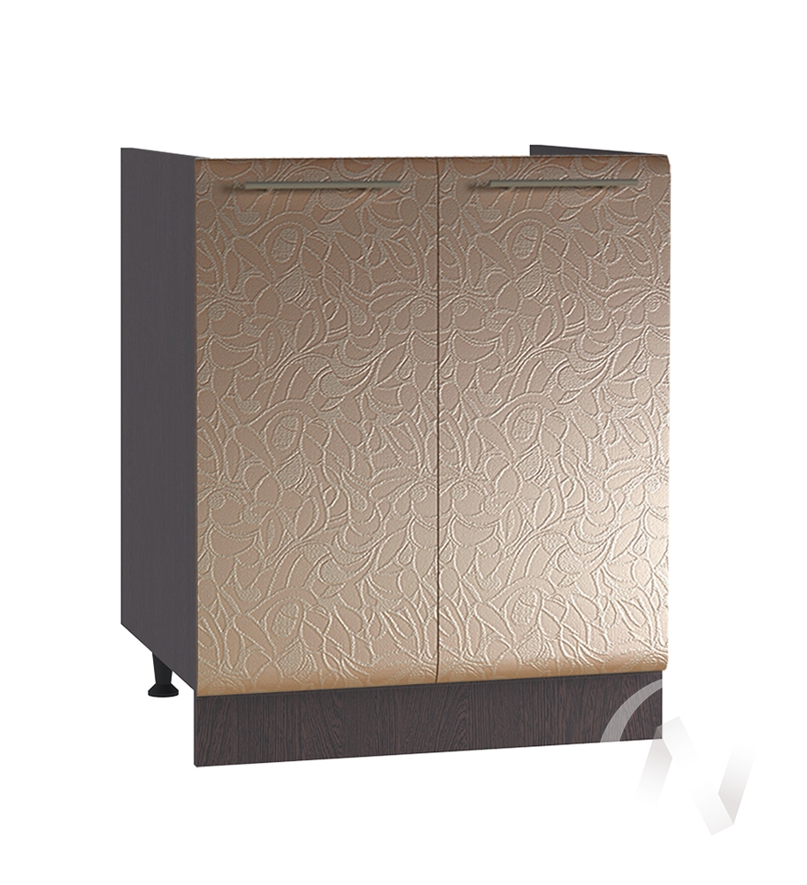 "Кухня ""Люкс"": Шкаф нижний под мойку 600, ШНМ 600 (Гобелен шампань/корпус венге)"