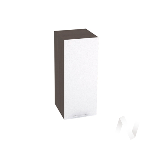 "Кухня ""Валерия-М"": Шкаф верхний 300, ШВ 300 (белый металлик/корпус венге)"
