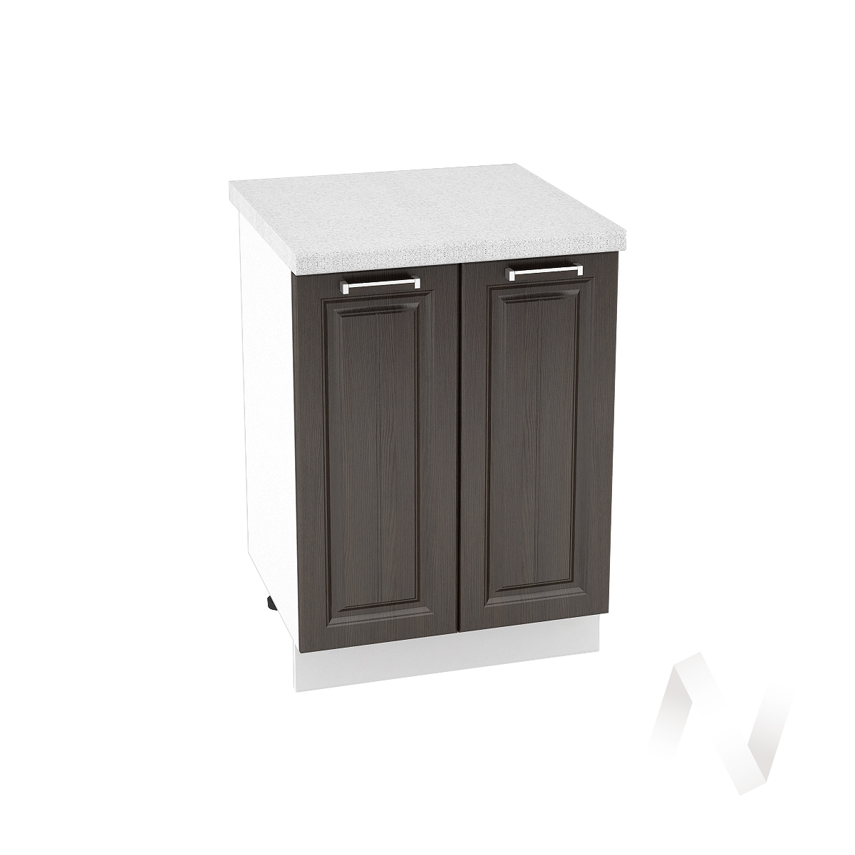 "Кухня ""Прага"": Шкаф нижний 600, ШН 600 (венге/корпус белый)"