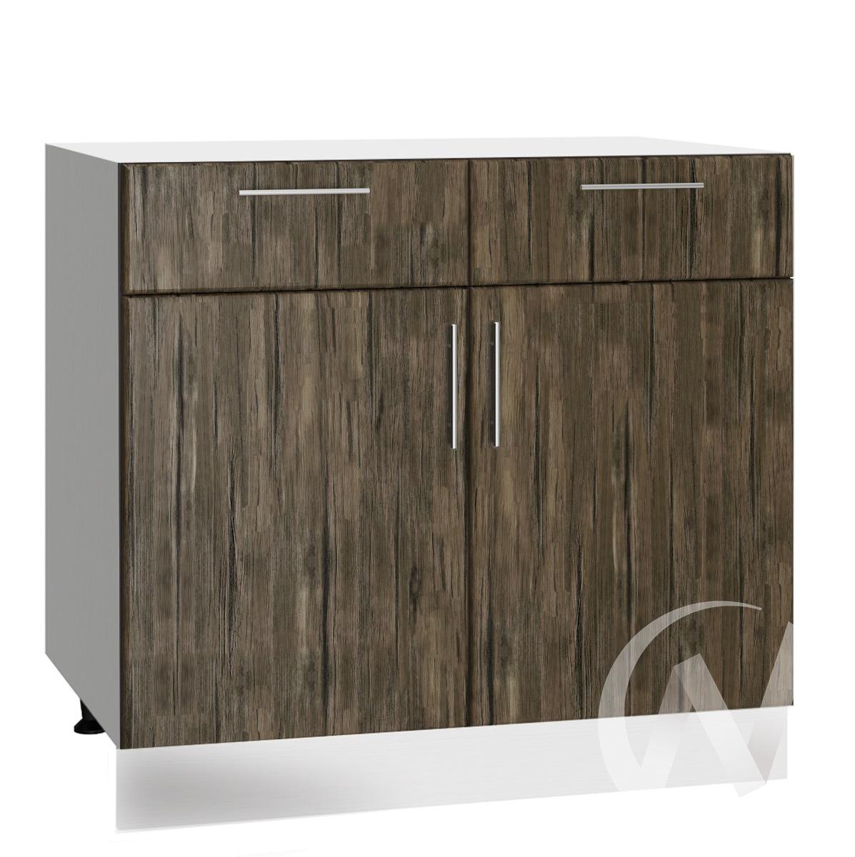 """Кухня """"Норден"""": Шкаф нижний с ящиками 800, ШН1Я 800 (старое дерево/корпус белый)"""