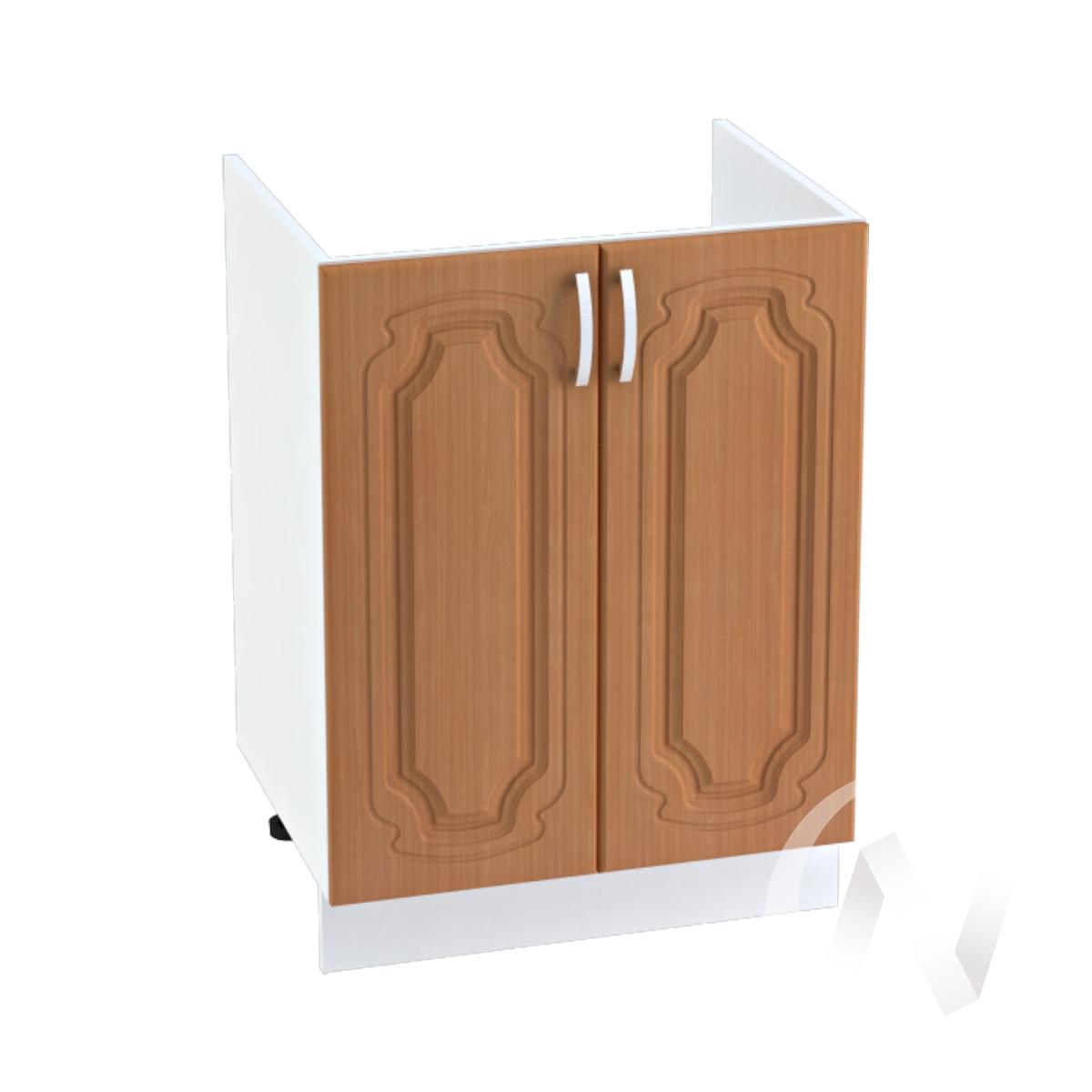 "Кухня ""Настя"": Шкаф нижний под мойку 600, ШНМ 600 (Орех миланский/корпус белый)"