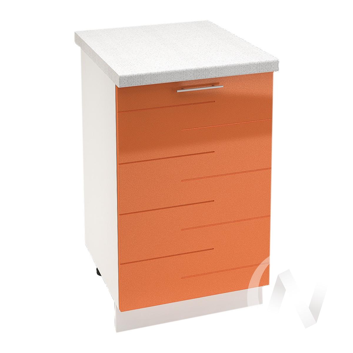 """Кухня """"Техно"""": Шкаф нижний 500, ШН 500 (корпус белый)"""