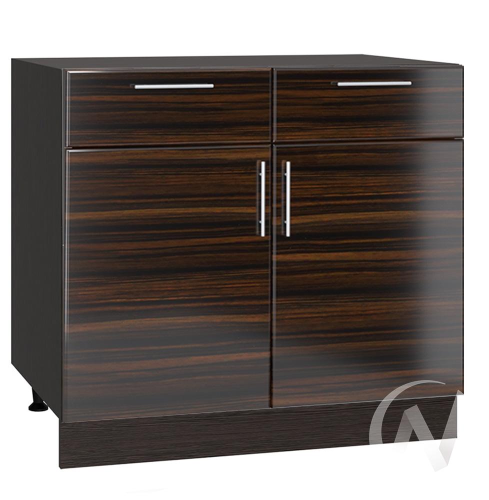 "Кухня ""Норден"": Шкаф нижний с ящиками 800, ШН1Я 800 (эбен/корпус венге)"