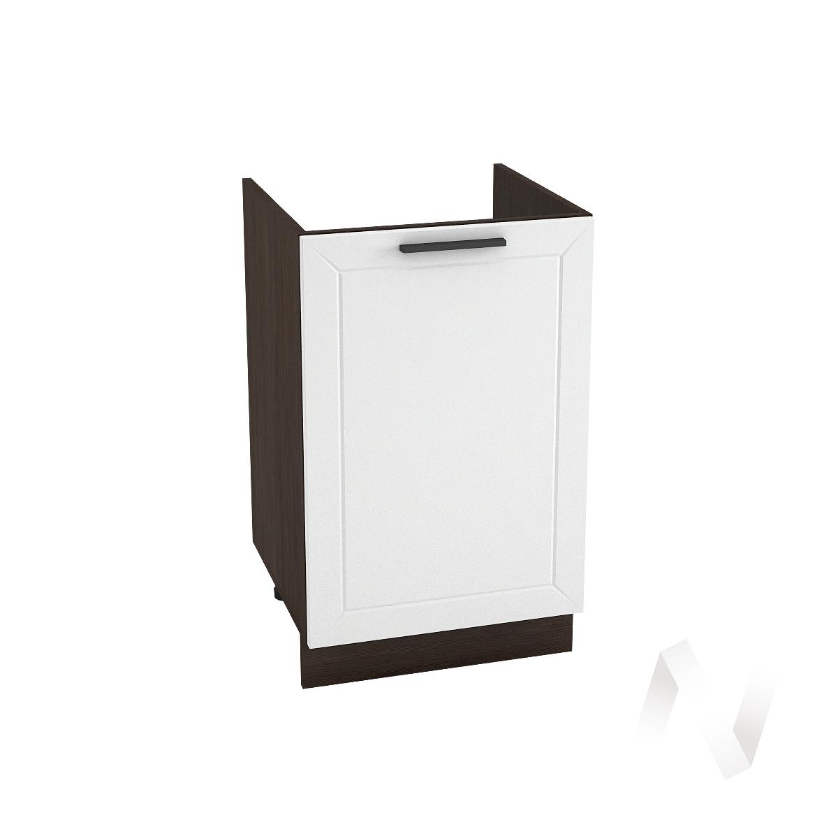 "Кухня ""Глетчер"": Шкаф нижний под мойку 500, ШНМ 500 (Айленд Силк/корпус венге)"