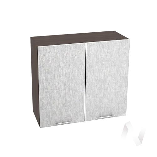 """Кухня """"Валерия-М"""": Шкаф верхний 800, ШВ 800 (дождь серый/корпус венге)"""