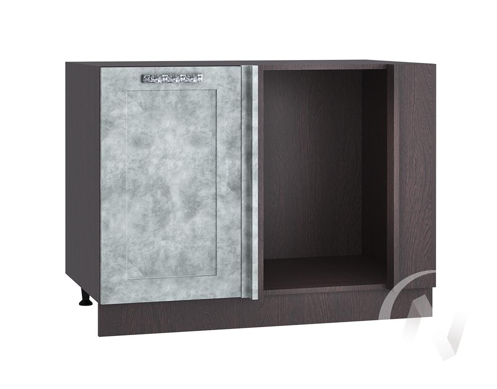 "Кухня ""Лофт"": Шкаф нижний угловой 990М, ШНУ 990М (Бетон серый/корпус венге)"
