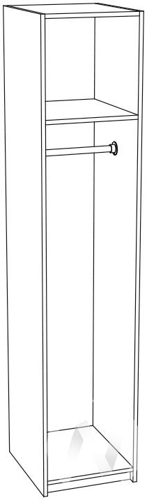 Пенал скалка ПН-711 Гостиная Мальта (белфорт/венге)