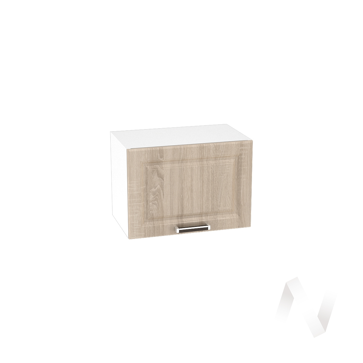 "Кухня ""Прага"": Шкаф верхний горизонтальный 500, ШВГ 500 (дуб сонома/корпус белый)"