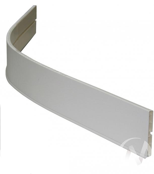 Угловой универс. элемент Цоколь 100 ламинир., 1,2 м (белый)