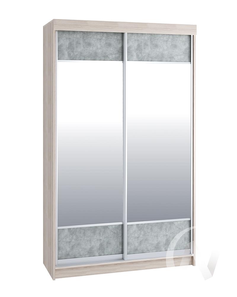 Шкаф-купе Лофт ясень шимо светлый/бетон серый