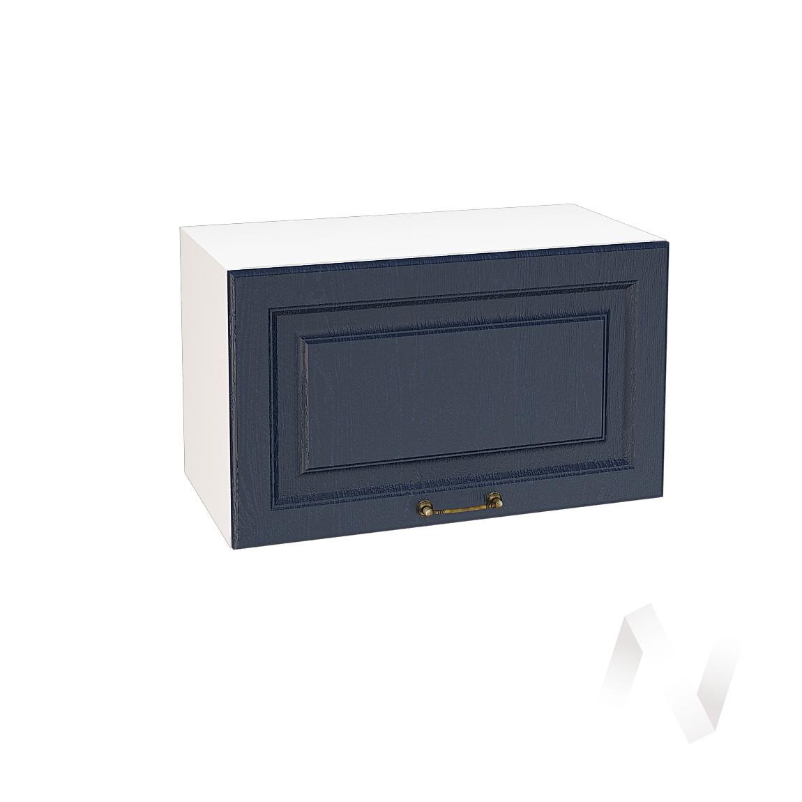 """Кухня """"Ницца"""": Шкаф верхний горизонтальный 600, ШВГ 600 (Дуб чернильный/корпус белый)"""