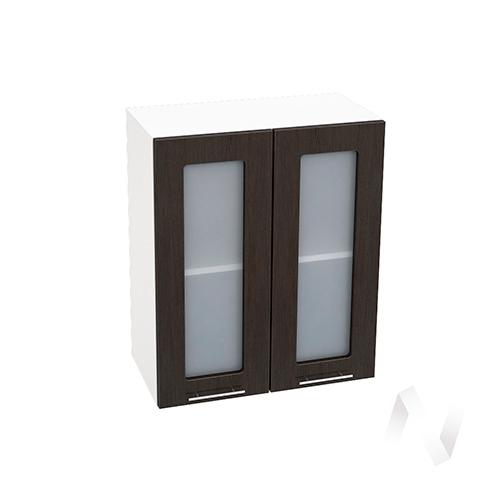 """Кухня """"Валерия-М"""": Шкаф верхний со стеклом 600, ШВС 600 (венге/корпус белый)"""