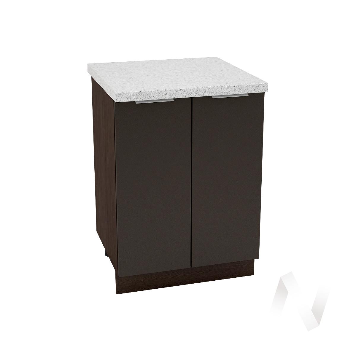 "Кухня ""Терра"": Шкаф нижний 600, ШН 600 (смоки софт/корпус венге)"
