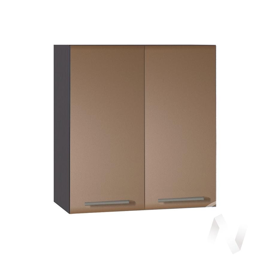 """Кухня """"Люкс"""": Шкаф верхний 600, ШВ 600 (Шоколад матовый/корпус венге)"""