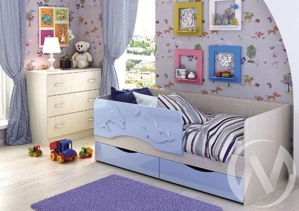 """Кровать """"Алиса 1,6"""" (Голубой металлик)"""