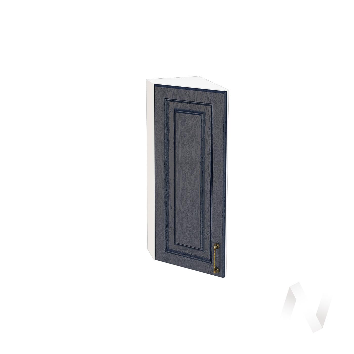 """Кухня """"Ницца"""": Шкаф верхний торцевой 224, ШВТ 224 (Дуб чернильный/корпус белый)"""