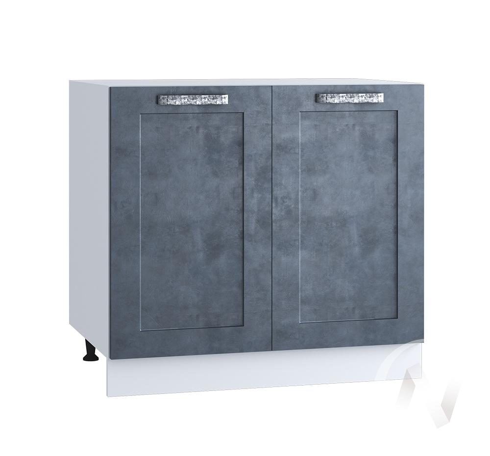 "Кухня ""Лофт"": Шкаф нижний 800, ШН 800 (Бетон графит/корпус белый)"