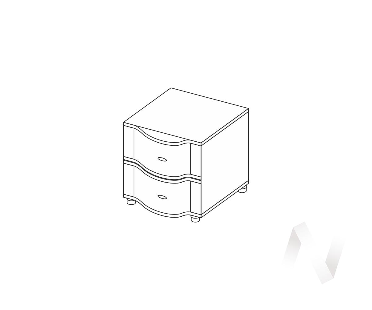 ТМ тумба прикроватная малая Камелия (ясень шимо темный)  в Томске — интернет магазин МИРА-мебель