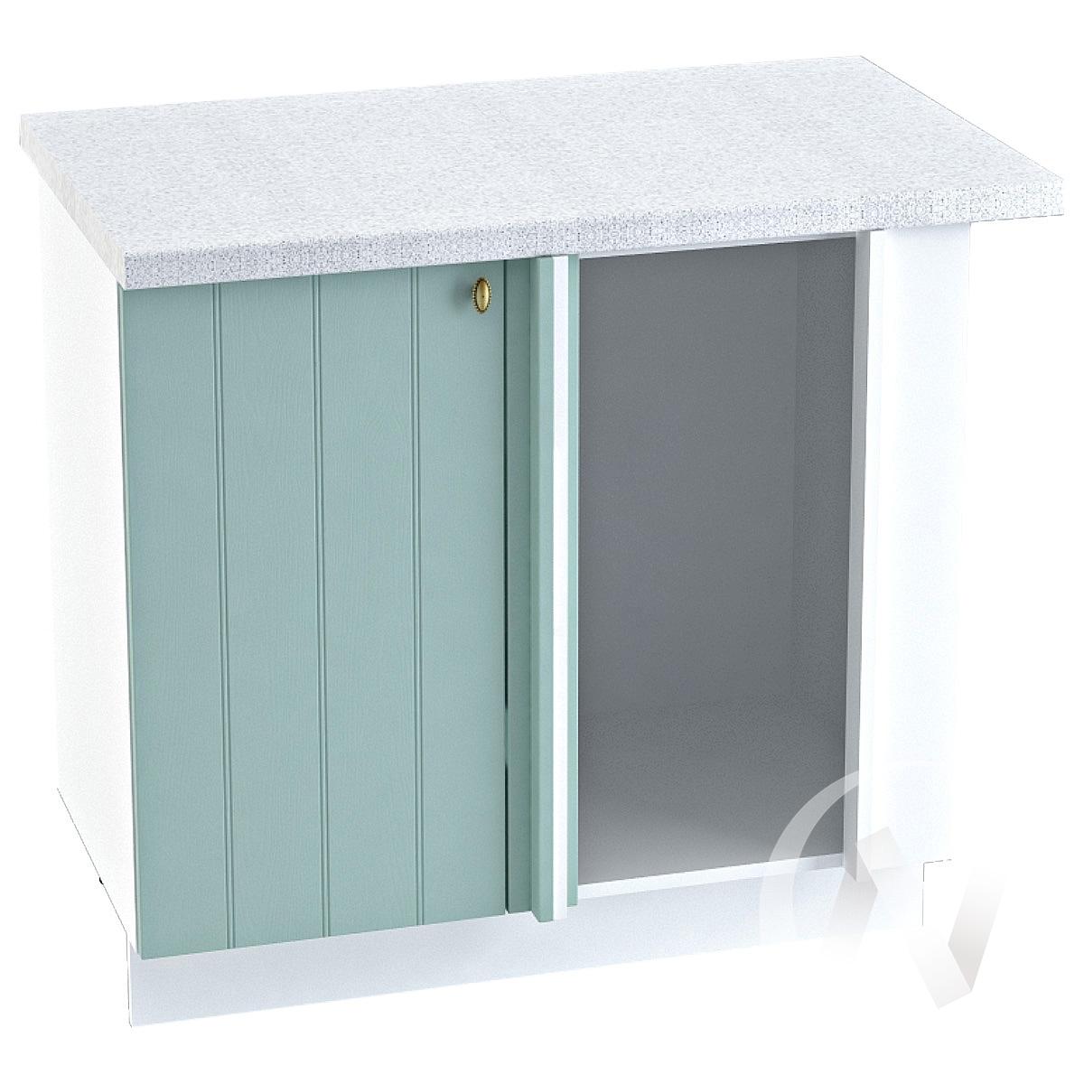 "Кухня ""Прованс"": Шкаф нижний угловой 990М, ШНУ 990М (голубой/корпус белый)"