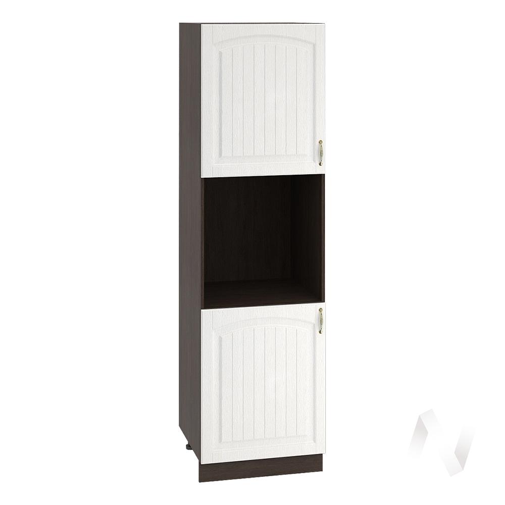 """Кухня """"Верона"""": Шкаф пенал 600, ШП 600 (ясень золотистый/корпус венге)"""
