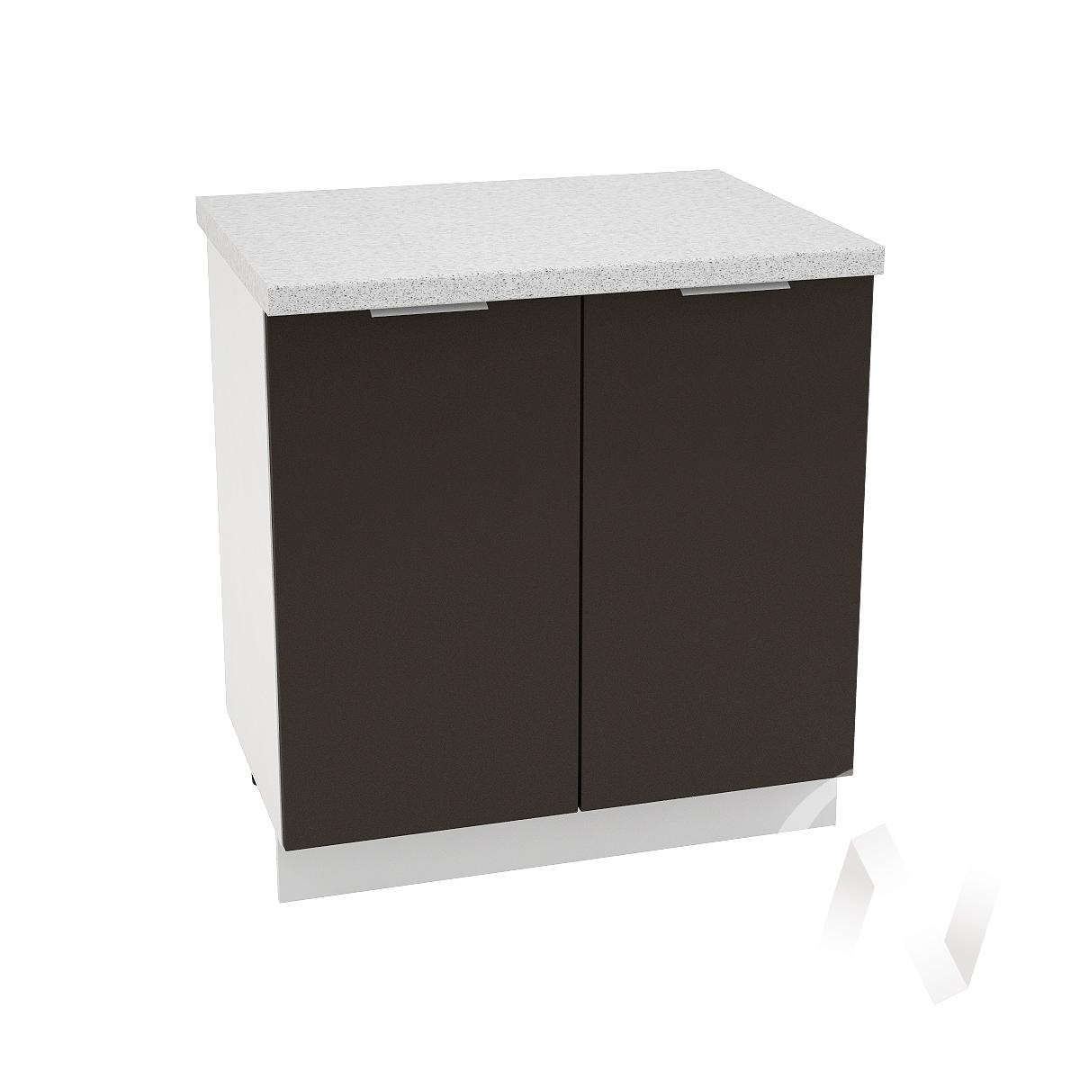 "Кухня ""Терра"": Шкаф нижний 800, ШН 800 (смоки софт/корпус белый)"