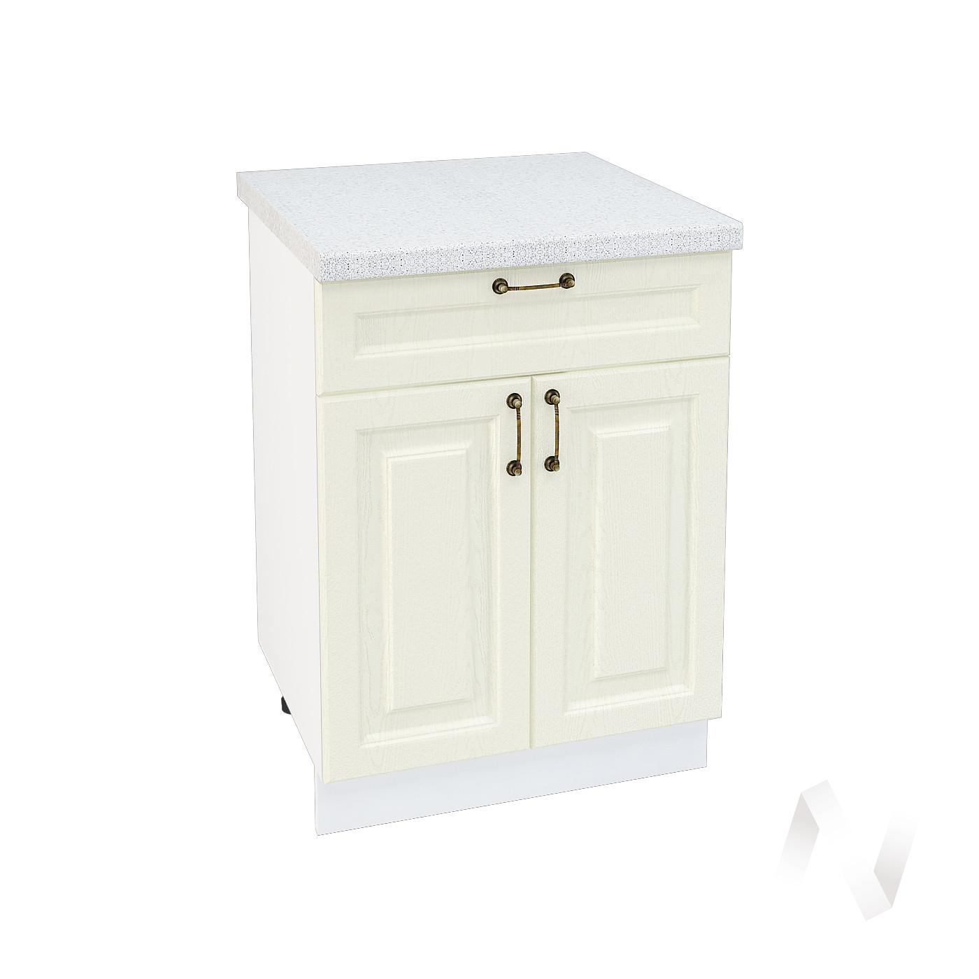 """Кухня """"Ницца"""": Шкаф нижний с ящиком 600, ШН1Я 600 М (Крем/корпус белый)"""