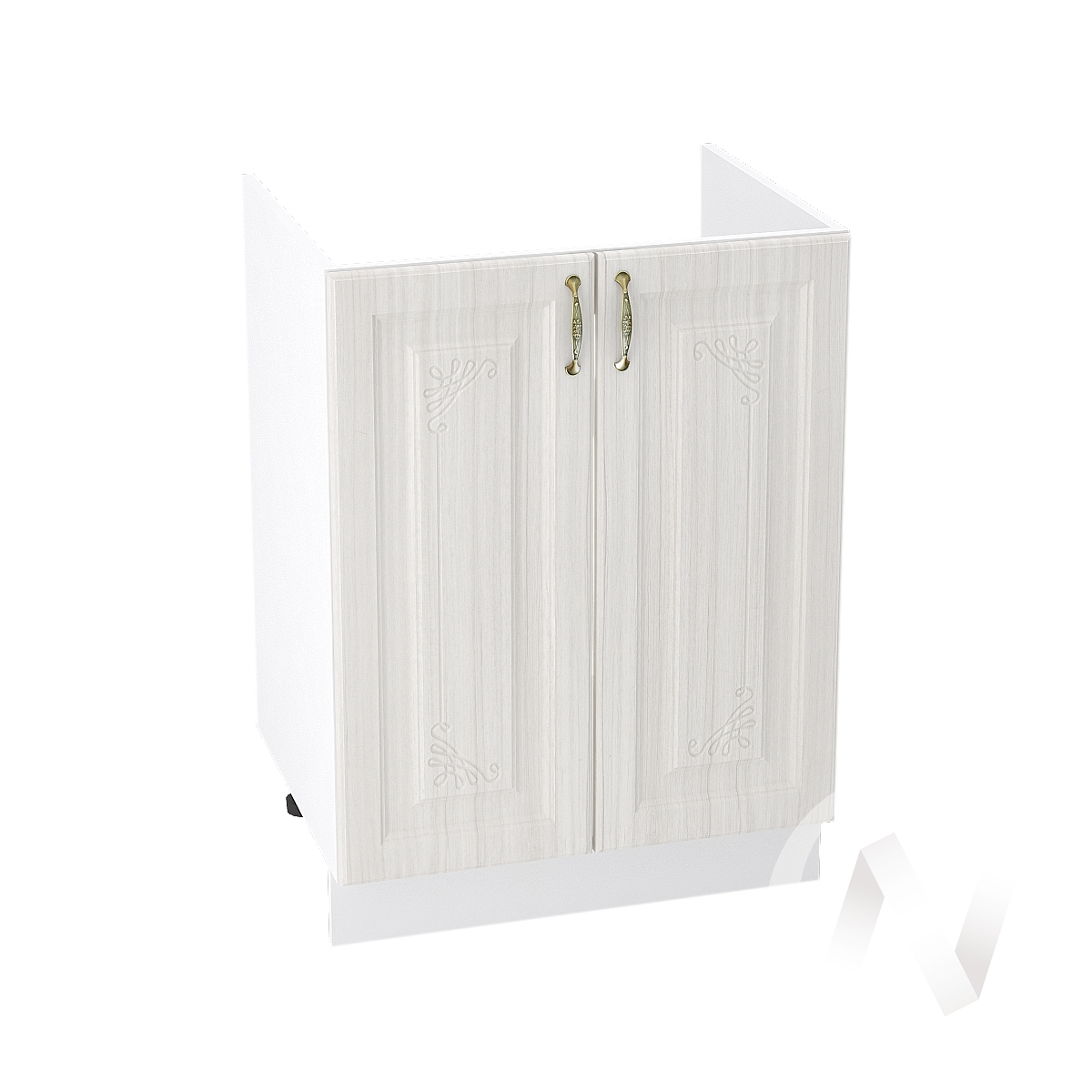 """Кухня """"Виктория"""": Шкаф нижний под мойку 600, ШНМ 600 (корпус белый)"""