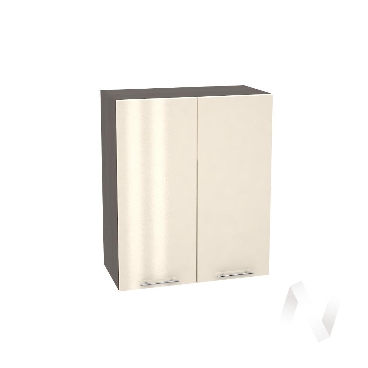 """Кухня """"Валерия-М"""": Шкаф верхний 600, ШВ 600 (Ваниль глянец/корпус венге)"""