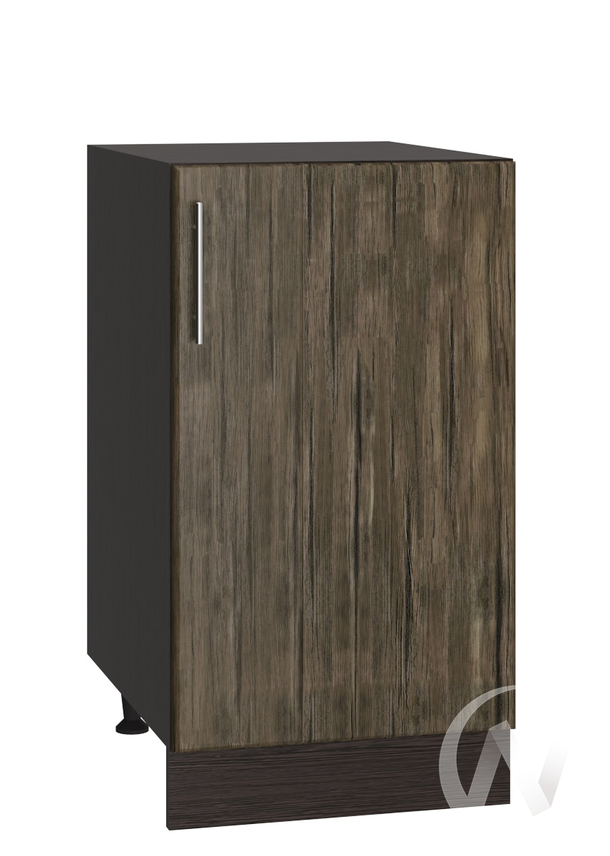 "Кухня ""Норден"": Шкаф нижний 400, ШН 400 (старое дерево/корпус венге)"