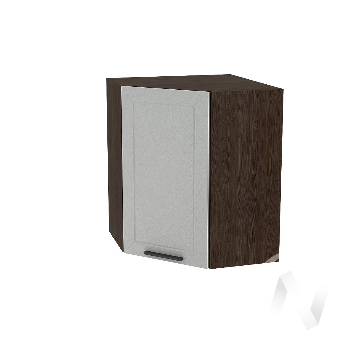 """Кухня """"Глетчер"""": Шкаф верхний угловой 590, ШВУ 590 (Гейнсборо Силк/корпус венге)"""