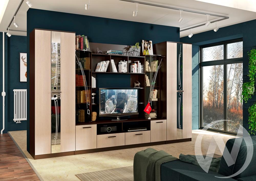 Гостиная Венеция (венге/лоредо) в Новосибирске в интернет-магазине мебели kuhnya54.ru