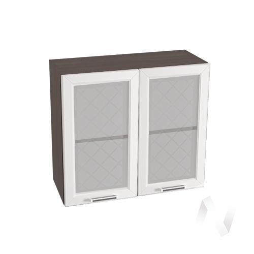 """Кухня """"Вена"""": Шкаф верхний со стеклом 800, ШВС 800 (корпус венге)"""