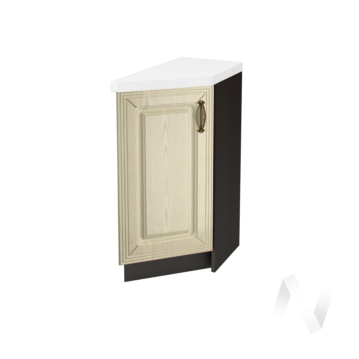 """Кухня """"Изабель"""": Шкаф нижний торцевой 300, ШНТ 300 (корпус венге)"""