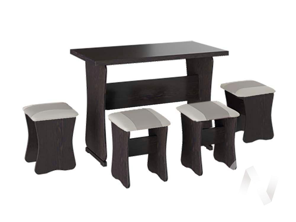 Обеденная группа тип 1 кожзам (венге/серый,белый)  в Томске — интернет магазин МИРА-мебель