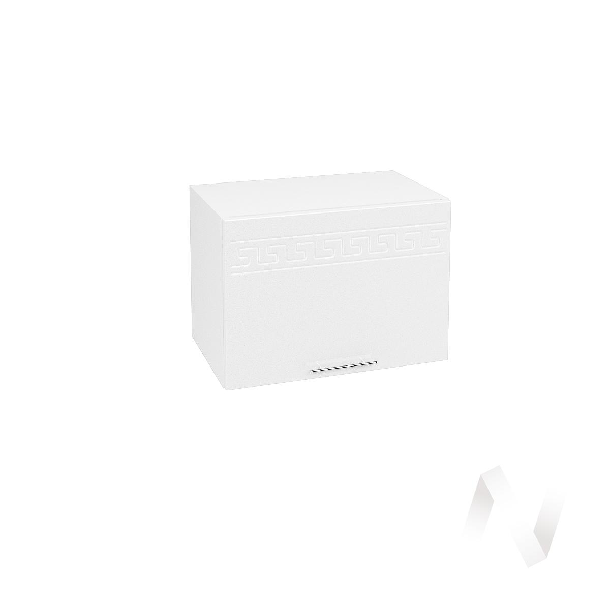 """Кухня """"Греция"""": Шкаф верхний горизонтальный 500, ШВГ 500 (белый металлик/корпус белый)  в Новосибирске - интернет магазин Мебельный Проспект"""