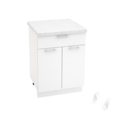 """Кухня """"Валерия-М"""": Шкаф нижний с ящиком 600, ШН1Я 600 М (белый глянец/корпус белый)"""