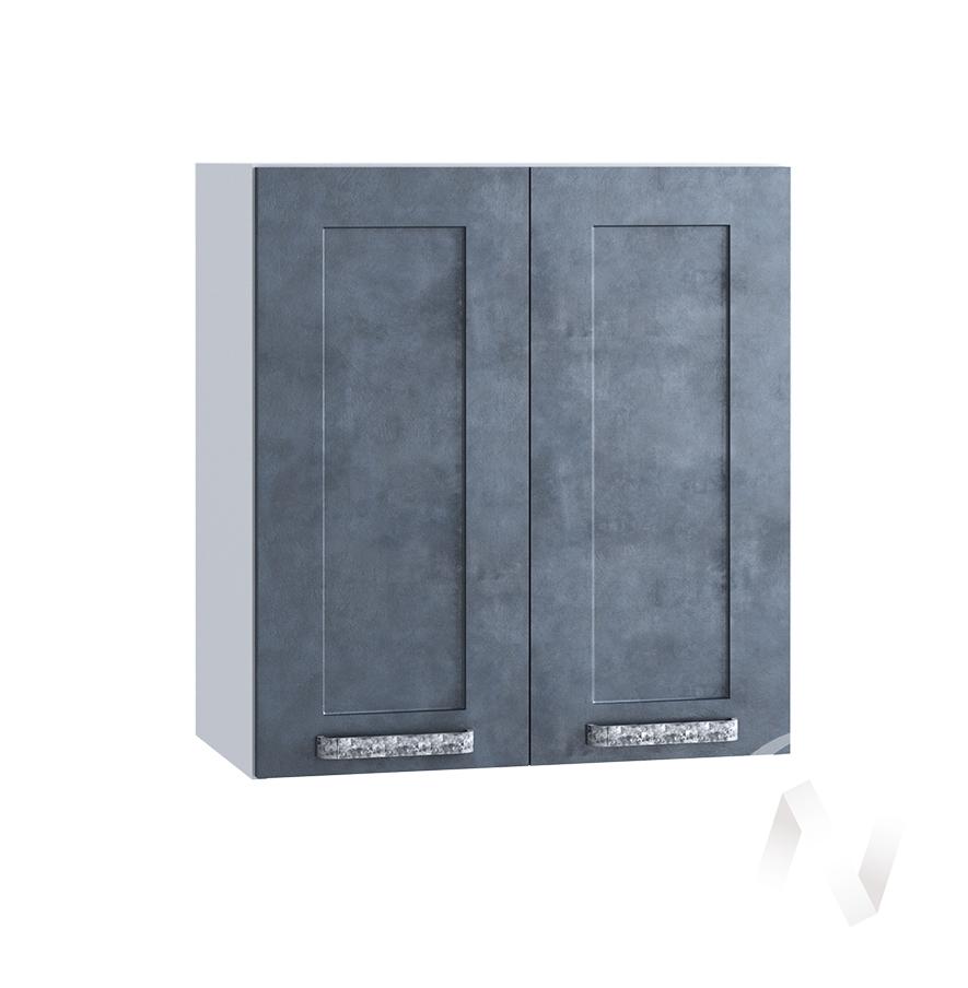 "Кухня ""Лофт"": Шкаф верхний 600, ШВ 600 (Бетон графит/корпус белый)"