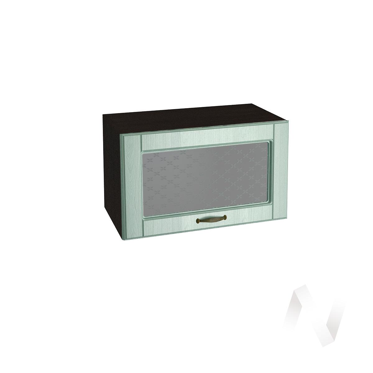"""Кухня """"Прованс"""": Шкаф верхний горизонтальный со стеклом 600, ШВГС 600 (корпус венге)"""