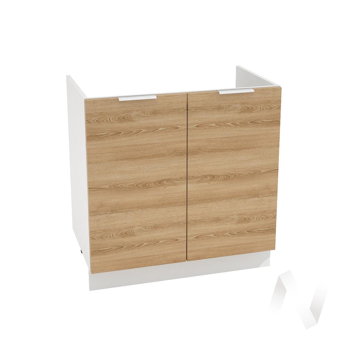 """Кухня """"Терра"""": Шкаф нижний под мойку 800, ШНМ 800 (ель карпатская/корпус белый)"""