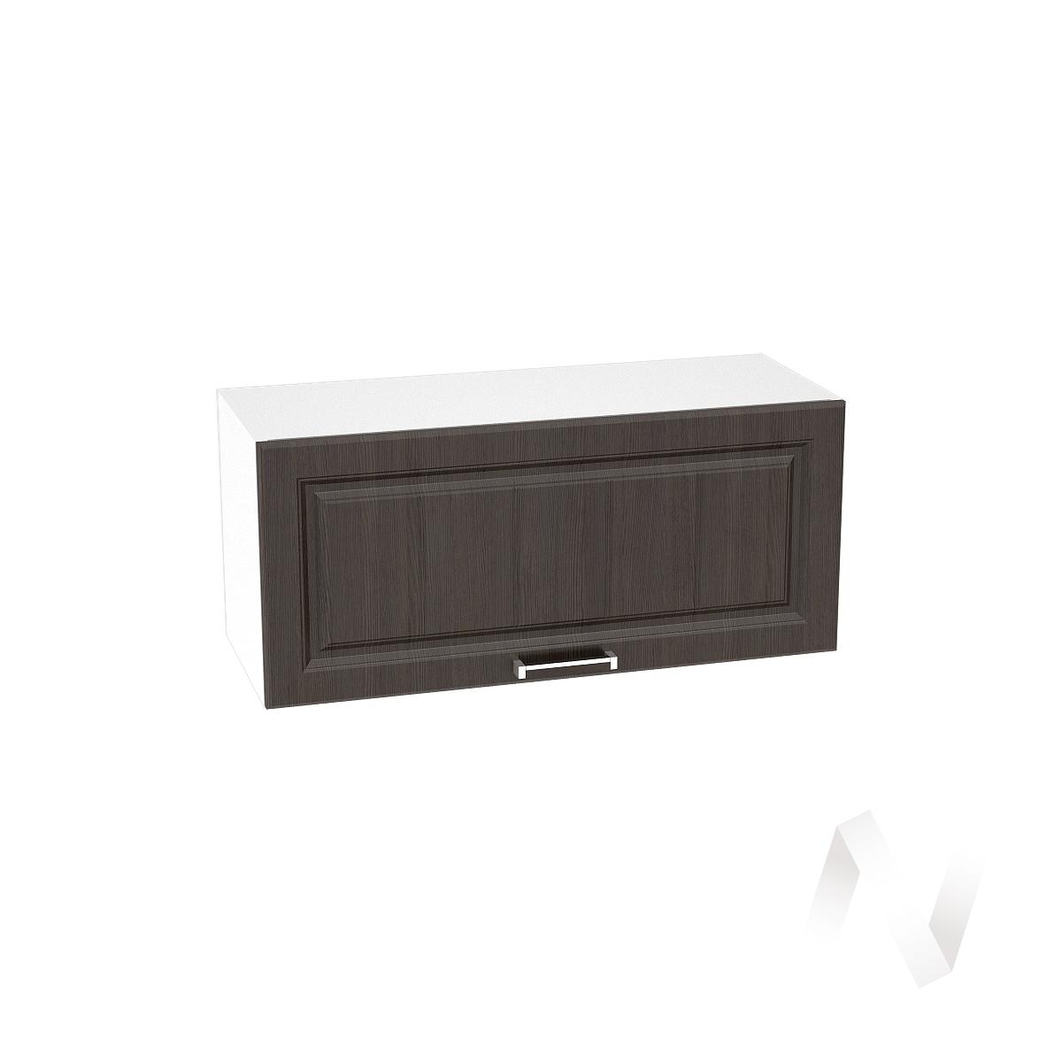 """Кухня """"Прага"""": Шкаф верхний горизонтальный 800, ШВГ 800 (венге/корпус белый)"""