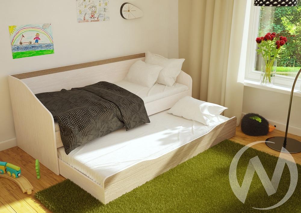 Кровать детская с ящиком Паскаль (дуб атланта/ясень шимо)