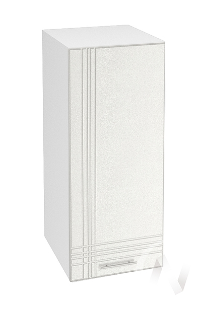 """Кухня """"Струна"""": Шкаф верхний 300, ШВ 300 (белый металлик/корпус белый)"""