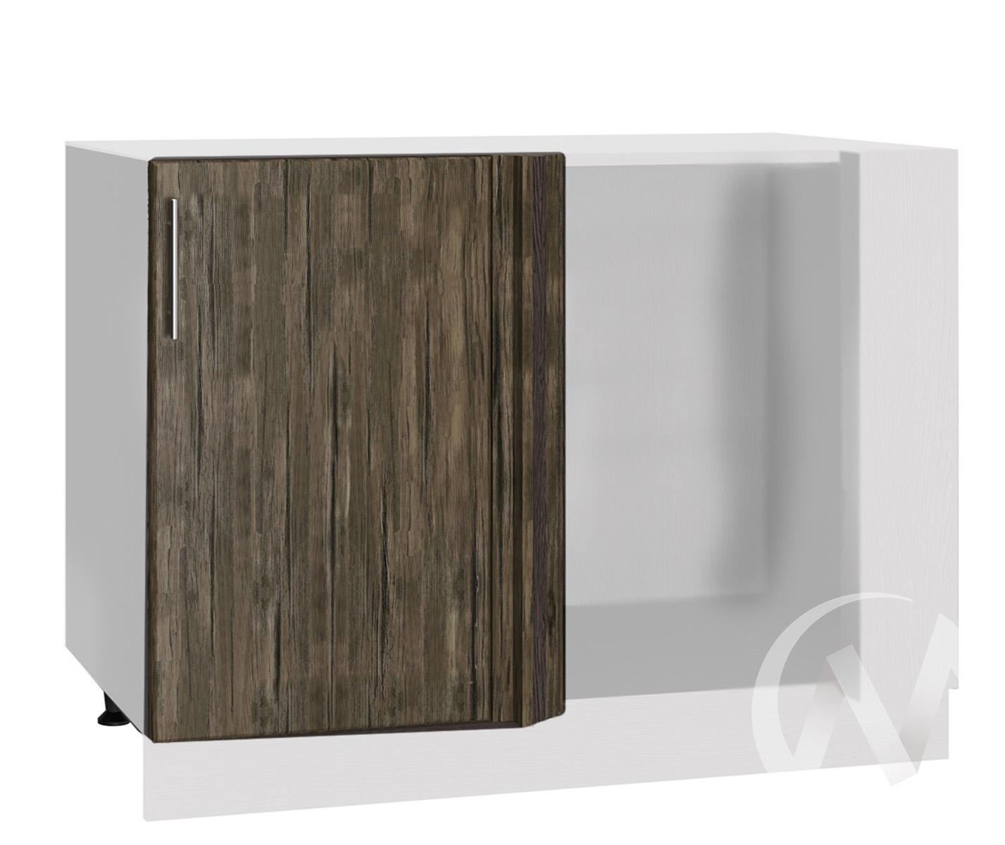"""Кухня """"Норден"""": Шкаф нижний угловой 990М, ШНУ 990М (старое дерево/корпус белый)"""