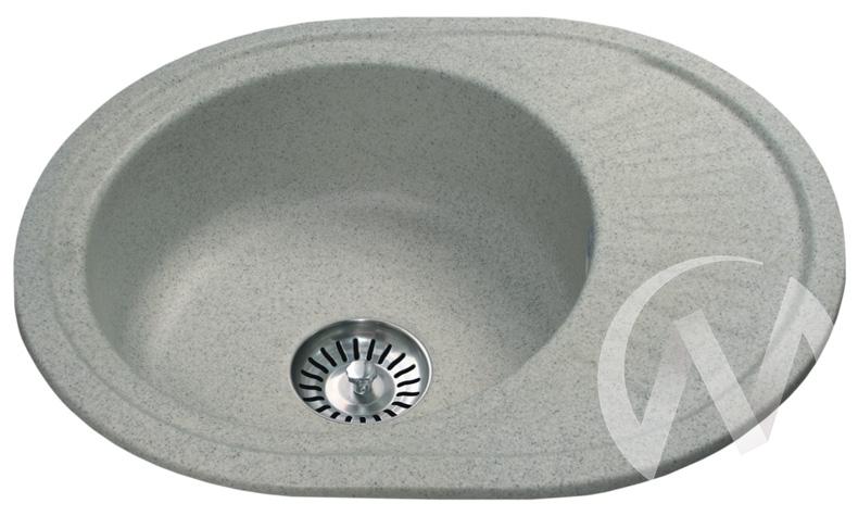 Мойка круглая из искусственного камня U-107m (серый 310)  в Томске — интернет магазин МИРА-мебель