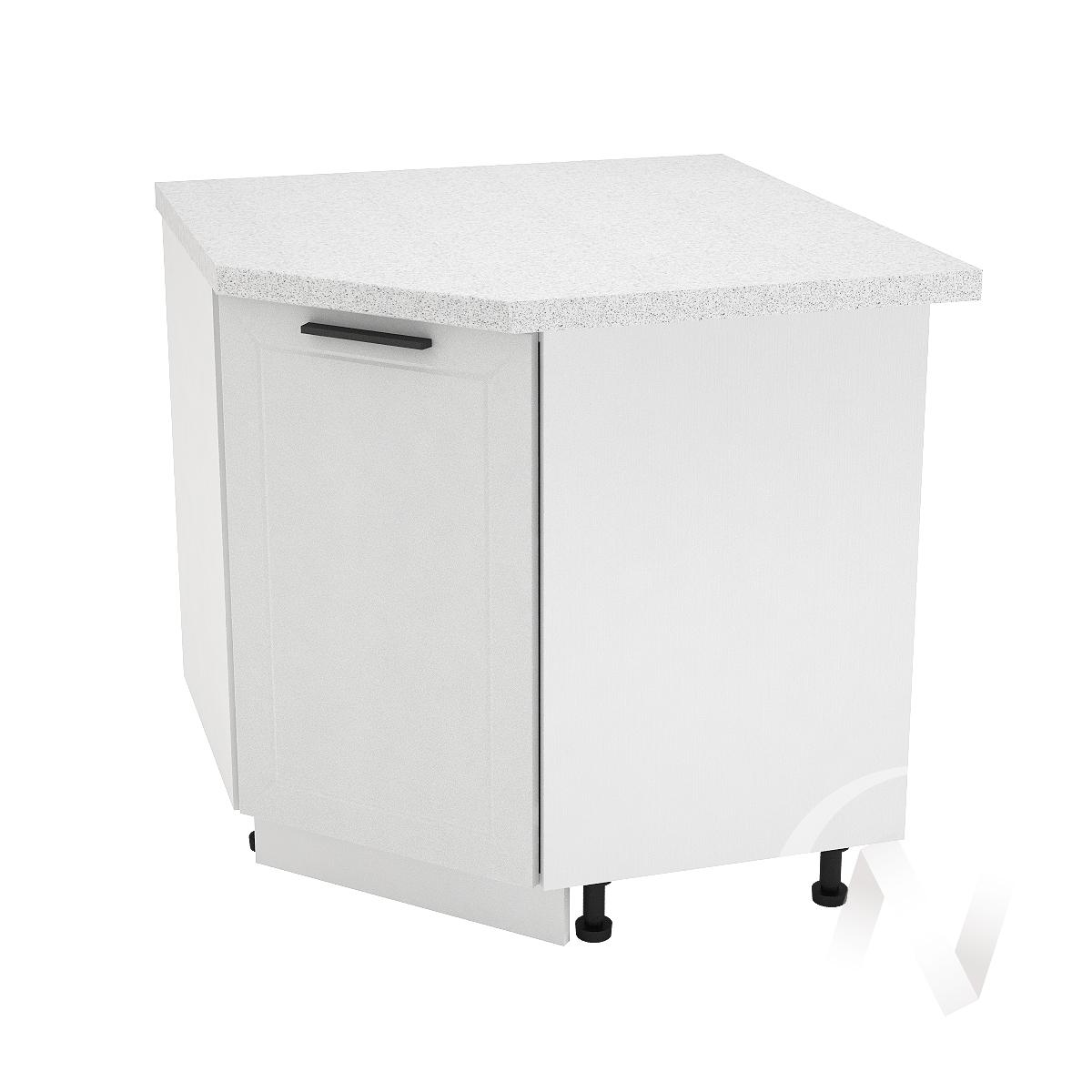 "Кухня ""Глетчер"": Шкаф нижний угловой 890, ШНУ 890 (Айленд Силк/корпус белый)"