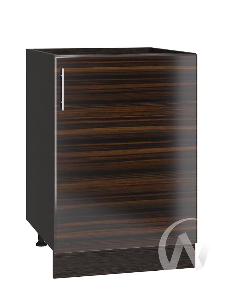 "Кухня ""Норден"": Шкаф нижний под мойку 500, ШНМ 500 (эбен/корпус венге)"