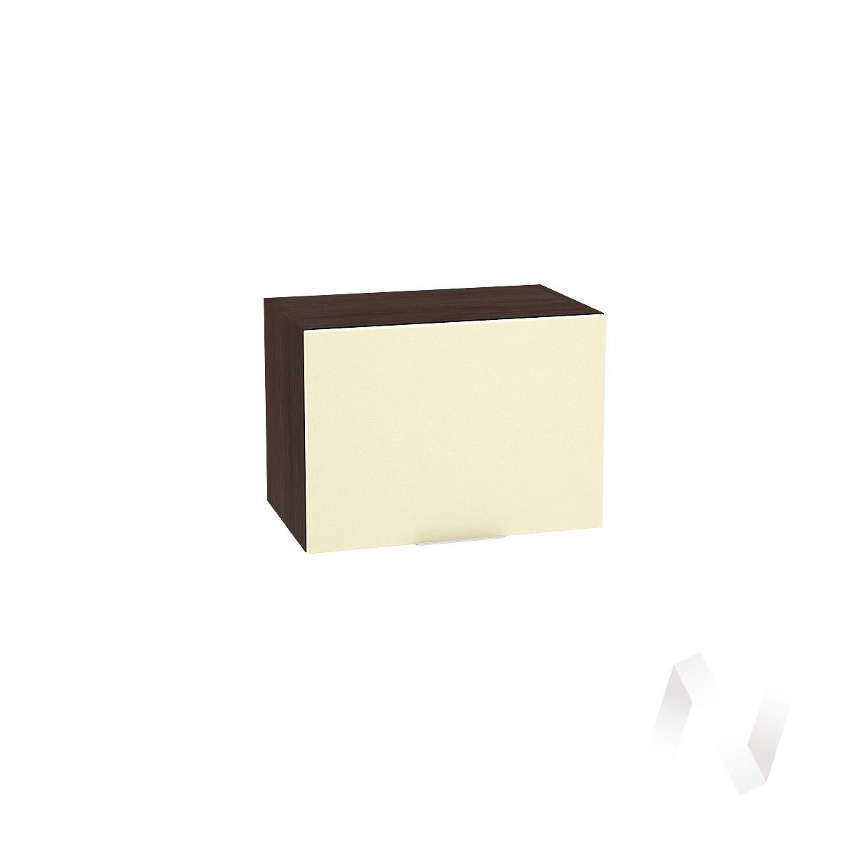 """Кухня """"Терра"""": Шкаф верхний горизонтальный 500, ШВГ 500 (ваниль софт/корпус венге)"""