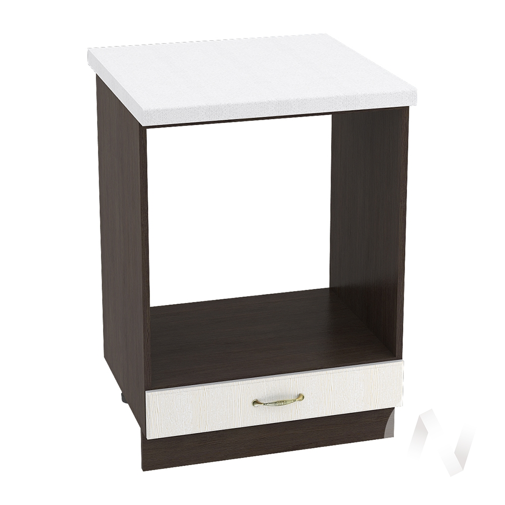 """Кухня """"Верона"""": Шкаф нижний под духовку 600, ШНД 600 (ясень золотистый/корпус венге)"""