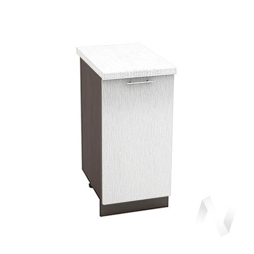 "Кухня ""Валерия-М"": Шкаф нижний 400, ШН 400 (Страйп белый/корпус венге)"