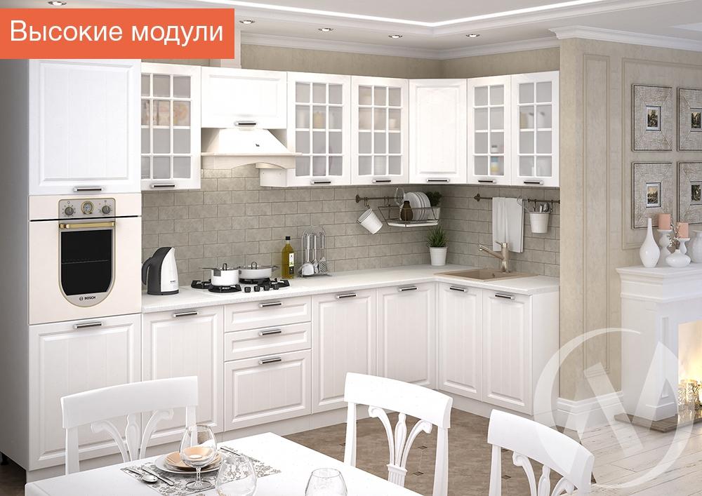 """Кухня """"Прага"""" (белое дерево/корпус белый)"""